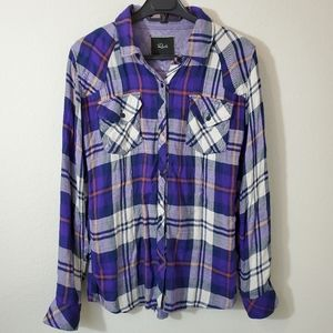 Rails button down plaid flannel longsleeve shirt